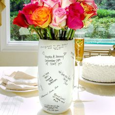 3b7fc6a7f45e Guest book you ll actually use again Signature Vase. Would be great for a bridal  shower. or a baptism