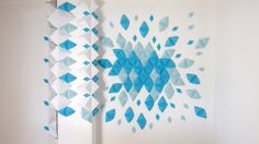 """""""I tried to do different compositions for office decoration but its one of those i like"""" Kristina Lenchuk #decoration #office #diy #idea #blue #white #wall #gladmade"""