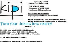 Bocome a kipi member. Get wealthy in not more than 64 months
