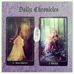 #dailychronicles for April 28th.  Decisions decisions. Are you struggling to choose which path to take? You could be at a crossroads trying to decide which route is best.  The Call could either simplify or complicate things (depending on how it applies to you) as this card brings an offer being made to you. Does this invitation help make your decision for you?  #chroniclesofdestiny #fortunecards #cartomancy #divination #tarot #tarotcards #oraclecards #guidance #dailycard #forestlabyrinth…