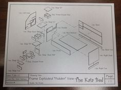 Kids Bed Blueprint Woodworking DIY Plans Drawings Project CNC Boy Girl Craft Fun | eBay