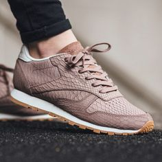 Reebok Classic Leather Clean Exotics - Taupe/Chalk  ❥Pinterest: yarenak67