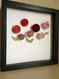 Red Rose Garden 3D Paper Art Customize with your by PaperLine, $35.00