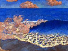 Georges Lacombe, Blue Seascape, Wave Effect , 1893 in. Georges Lacombe was a French artist and a member of Les . Maurice Denis, Art And Illustration, Illustrations, Pierre Bonnard, Art Hoe, Oil Painting Reproductions, Love Art, Oeuvre D'art, Les Oeuvres