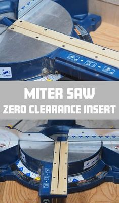 Miter Saws Miter Saw Zero Clearance Insert: 8 Steps (with Pictures) - I was surprised to see the number of Instructables tutorials on table saw inserts but none for miter saw inserts. While I'm sure there are many zero clearance tut. Woodworking Logo, Woodworking Workbench, Fine Woodworking, Woodworking Crafts, Woodworking Techniques, Woodworking Beginner, Workbench Plans, Woodworking Joints, Woodworking Patterns