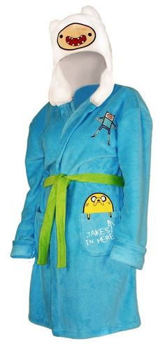 Amazon.com: Adventure Time Finn Hooded Robe Size : Large / X-Large: Clothing