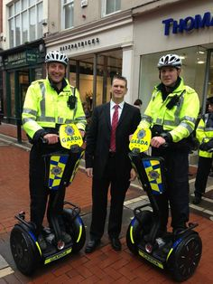 Martin with the two new Garda Segway that were officially launched in Dublin this morning @SegwayInc #Segway pic.twitter.com/CI4uUIAT