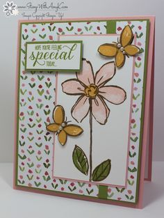 by Amy: Garden in Bloom and English Garden dsp - all from Stampin' Up!
