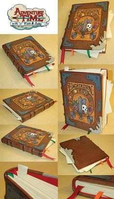 This is my attempt to bring the cartoon Enchiridion to life. This Adventure Time piece is straight out of the episode that is also named The Enchiridion. The Enchiridion Adventure Time Crafts, Adventure Time Parties, Adventure Time Anime, My Adventure Book, Adveture Time, Diy And Crafts, Paper Crafts, Ideias Diy, Cosplay Diy