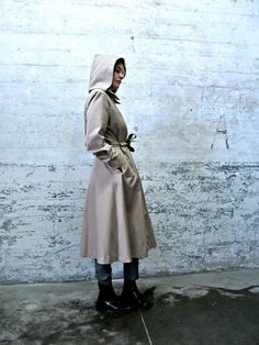 secret agent time vintage wheat trench coat by GinnyandHarriot, $62.00