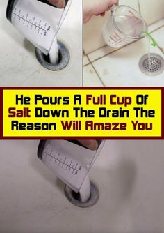 The Reason Will Amaze you He's pouring a full cup of salt down the drain. Health Heal, Bone Health, Health And Wellness Quotes, Wellness Tips, Health Fitness, Fitness Gear, Body Fitness, Healthy Lifestyle Changes, Healthy Tips