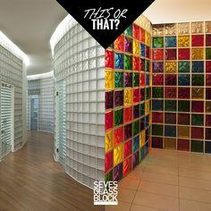 Design dilemma #glassblocks #glazenbouwstenen #glasdallen #architecture #design #seves #glassblock #bouwglas #bouwglasgesman #glasblok