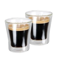 Double wall espresso glasses