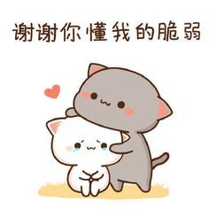 Cute Love Gif, Cute Love Pictures, Cute Cat Gif, Cute Cats, Chibi Cat, Cute Chibi, Cute Couple Cartoon, Cat Icon, Cute Ghost