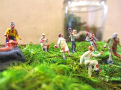 My Very Own Horde...Five Miniature Zombies Undead Terrarium Miniature Zombie Apocalypse Zombie Horde The Walking Dead by FaerieNest on Etsy https://www.etsy.com/listing/123785896/my-very-own-hordefive-miniature-zombies