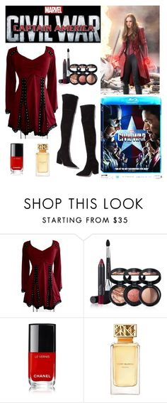 """""""Civil War"""" by victoria-muzio ❤ liked on Polyvore featuring Loeffler Randall, Laura Geller, Tory Burch, contestentry and CaptainAmericaCivilWar"""