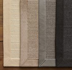 RH - Custom Belgian Wool Sisal Rug - RH. Felt in person - very soft for a sisal! 60% sisal, 40% wool. Swatches available for $30 retail / $22 net. LR sisal w/ binding would be $4,215 retail / $3,161 net. DR sisal w/ binding would be $2745 retail / $2,058 net