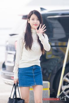 jieunology: 151021 Airport Arrivalcr: spinel www. J Pop, Iu Fashion, Asian Fashion, Airport Fashion, Kdrama Actors, Beautiful Girl Image, Asia Girl, Kpop Outfits, Korean Model