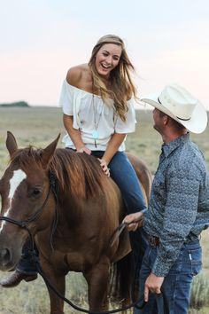 Horse Engagement Photos, Horse Girl, Cowboy Hats, Photo Ideas, Marriage, Horses, Future, Country, Photography