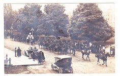 """BC – VICTORIA, Government and Belleville St, """"A"""" Squadron Procession c.1915 RPPC Victoria Bc Canada, Emily Carr, Vancouver Island, History Facts, Historical Photos, British Columbia, World, City, Cards"""