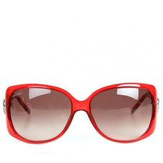 Gucci Womens Red Lovely Loveheart Large Sunglasses ($345) ❤ liked on Polyvore