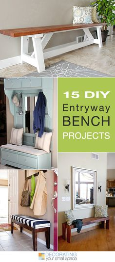 15 DIY Entryway Bench Projects 2019 15 DIY Entryway Bench Projects Tons of Ideas and Tutorials! The post 15 DIY Entryway Bench Projects 2019 appeared first on Entryway Diy. Furniture Projects, Home Projects, Diy Furniture, Reupholster Furniture, Backyard Projects, Home Design Diy, Diy Home Decor, Interior Design, Home And Deco
