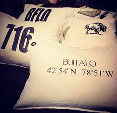 We are LOVING the new pillows at @Erica Mardis Moo buffalo !!!!