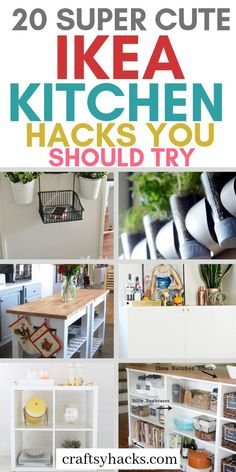 20 IKEA Kitchen Hacks You Don't Want to Miss Ikea furniture is just the best when it comes to decorating kitchen. Try these ikea hacks and transform your kitchen decor. Ikea Kitchen Storage, Ikea Hack Storage, Ikea Kitchen Cabinets, Storage Ideas, Kitchen Organization, Organization Hacks, Ikea Furniture Makeover, Ikea Furniture Hacks, Diy Furniture Projects