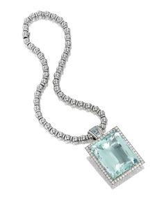 AQUAMARINE AND DIAMOND PENDANT, HEMMERLE -  Photo c/o Sotheby's