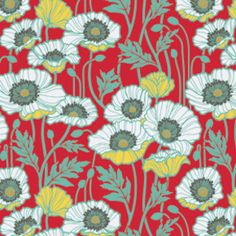 Joel Dewberry - Notting Hill Voile - Pristine Poppy in Poppy arriving November. also in lime and pink