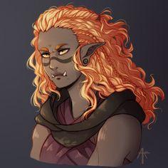 i love drawing d&d characters~ Fantasy Races, Fantasy Warrior, Fantasy Rpg, Character Portraits, Character Art, Character Design, Character Ideas, D D Characters, Fantasy Characters