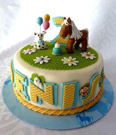 Dog's and horse's birthday cake