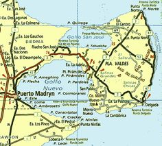 Mapa de Península de Valdés, Reserva Natural- Chubut Reserva Natural, Best Memories, Peru, Chile, Places To Go, Education, Maps, Nature, Travel