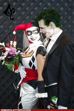 Harley Quinn and Joker wedding