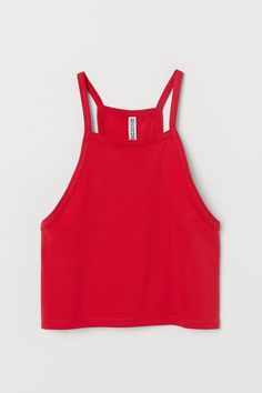 H&M Short Camisole Top - Red Off The Shoulder Double Ruffle Tankini Top - Red Plum Embroidery Flora Casual Outfits For Teens, Cute Outfits, Crop Top And High Waisted Shorts, Teen Fashion, Fashion Outfits, School Girl Outfit, Crop Top Outfits, Cute Crop Tops, Teenager Outfits