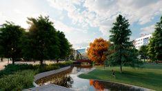 Nuevo parque en Plaza de la Comunicación. Valladolid. Plaza, Golf Courses, Sidewalk, Parks, Side Walkway, Walkway, Walkways, Pavement