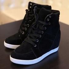 Details about Womens Hidden Heel Lace Up Sneaker Shoes Casual Pumps High Top Wedge Ankle Boot. Details about Womens Hidden Heel Lace Up Sneaker Shoes Casual Pumps High Top Wedge Ankle Boots, Wedge Ankle Boots, Wedge Shoes, Shoe Boots, Women's Shoes, Platform Shoes, Shoe Shoe, Ankle Shoes, Boot Wedges, Boot Heels