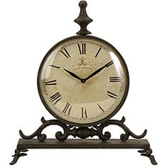 Handcrafted Provence Cafe Siroque Table Clock | Overstock.com Shopping - Great Deals on Clocks