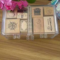 Stamps and such. 😊  #stationery #stationerylove #rubberstamps #vintage #travel #midoritravelersnotebook #traveljournal #snailmail #postal #postcross #penpals #plannerph #journal #art #diy #craft