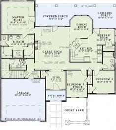 Plan 63196HD: Sunken Living Room Beauty | Pinterest | Southern house ...