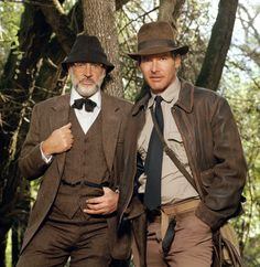 sweetcarolinablues:  voxsart:  Professor And Professor Jones. Sean Connery and Harrison Ford, 1989.   Damnit  This picture perfectly sums up my daily, inner sartorial dilemma. Do I dress like the North American action hero, or the British country gent?