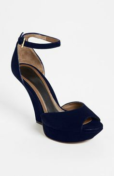 On the wish list for #someday ! Beautiful shoes. Marni Ankle Strap Wedge Sandal available at #Nordstrom