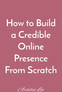 Building a credible online presence is crucial to an online business owner's success. Fortunately, it doesn't have to be scary, intimidating, or impossible. If you've been wondering how to go about establishing yourself as a trustworthy expert in your niche, this resource is for you. You'll learn the steps you can take to build your credible online presence and find even more resources to help you along the way. Click through to start your journey towards a trustworthy online presence today!