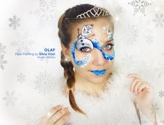OLAF Face Painting by Silvia Vitali https://www.facepainting.academy/face-painting-academy-pre-lancio/