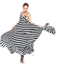 Alc Striped Maxi Dress