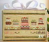 Party Cakes - cross stitch chart from Country Cottage Needleworks.