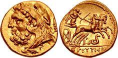 BRUTTIUM, The Brettii. Circa 216-214 BC. AV Hemidrachm (12mm, 2.10 g, 11h). Third coinage. Attic standard. Second Punic War issue.