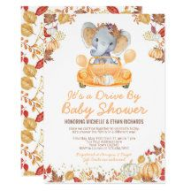 PrinterFairy: Products on Zazzle Baby Shower Fall, Gender Neutral Baby Shower, Fall Baby, Baby Elephant, Elephant Gifts, Game Themes, Baby Shower Invitations For Boys, Little Pumpkin, Christmas Card Holders