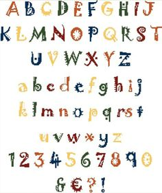 Alphabet à broder au point de croix. Retrouvez le diagramme gratuitement ici [http://swappons.kazeo.com/les-alphabets-de-sof/brik-a-brak,a391433.html]