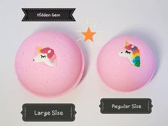 Believe in Magic Pink Bubblegum Unicorn Bath Bomb with Silver
